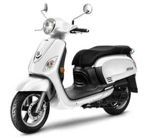 White and black 150CC Scooter.